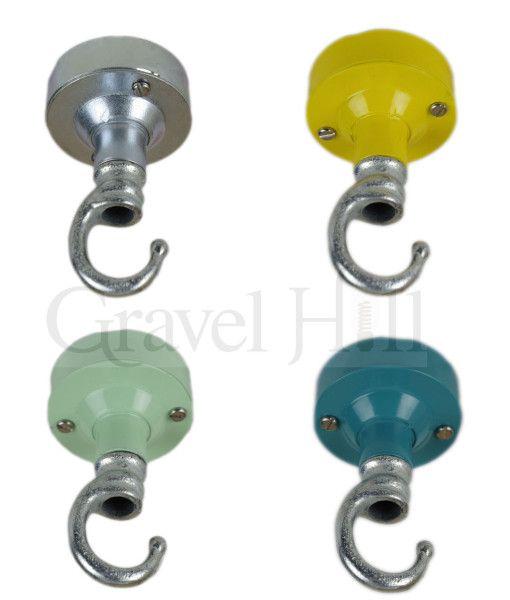 Industrial Galvanised Conduit Ceiling Rose Galvanized Hook