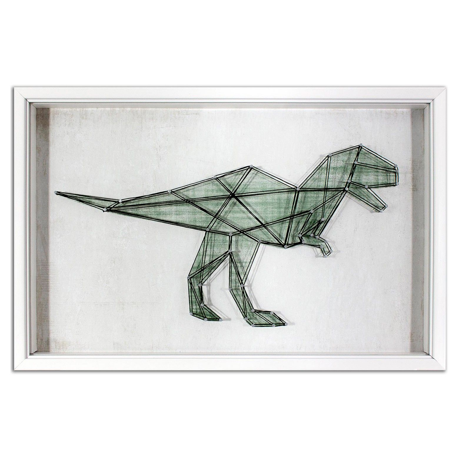 Dinosaur String Framed Wall Art  Pillowfort