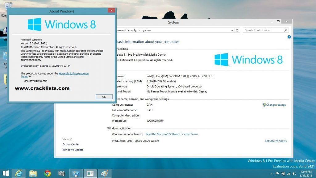 how i activate windows 8.1 pro