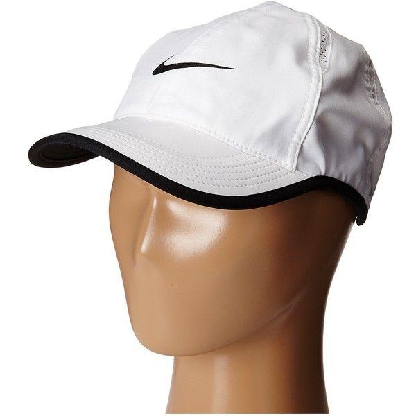 Nike Featherlight Cap WhiteBlackWhiteBlack Baseball Caps  25
