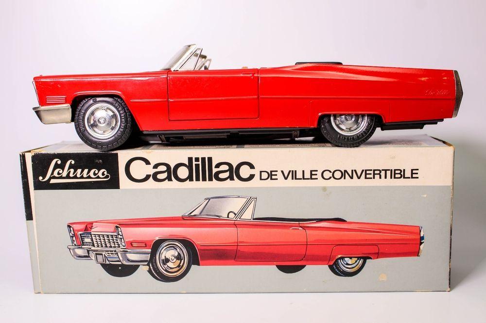 vintage schuco 5505 battery operated cadillac de ville convertible w/box