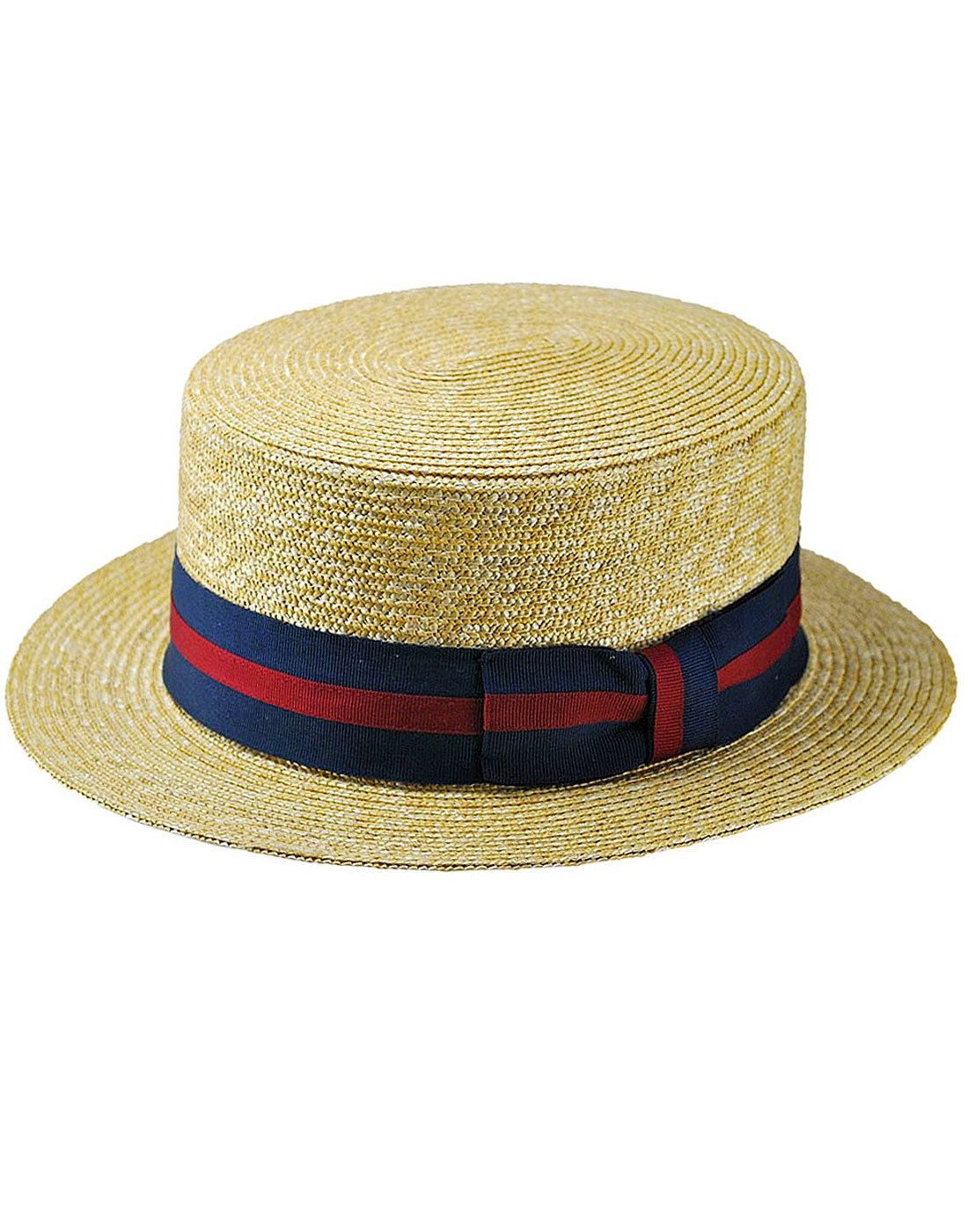 Failsworth men s retro Oxford straw boater hat. - Flat crown and straight  brim. - Classic straw 8dd185b63e3