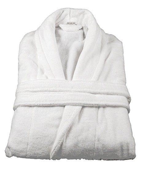 3edac4fa9 100% Cotton Terry Towelling Bathrobe Bath Robe + Matching Belt (Navy Blue):  Amazon.co.uk: Kitchen & Home