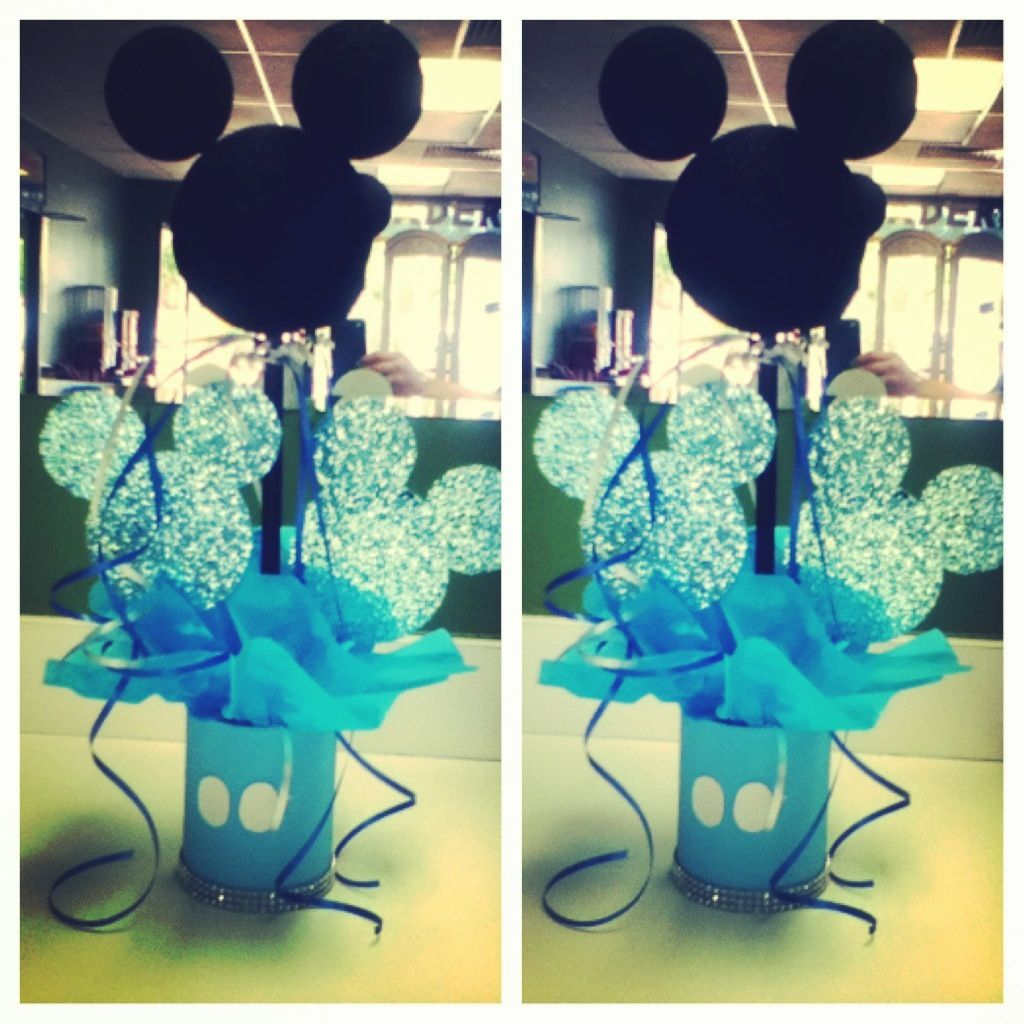 Great My Very First Baby Shower Mickey Centerpieces! :)