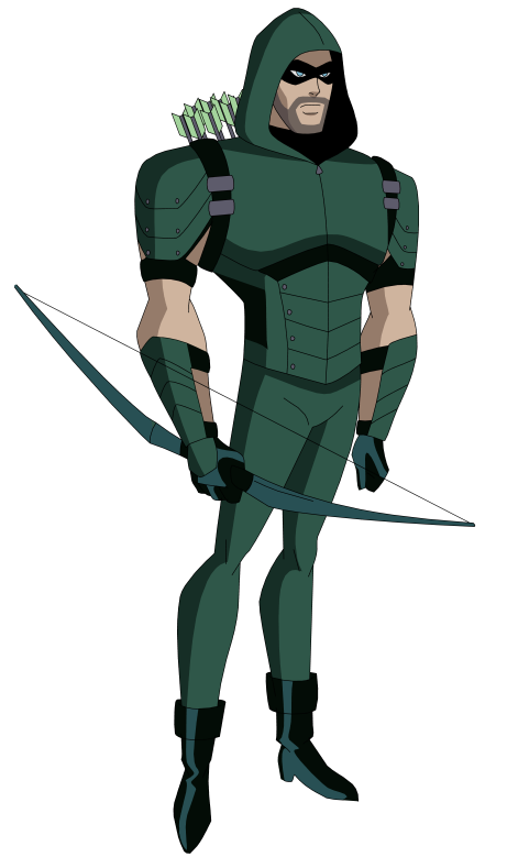Dcau Cw Green Arrow By Amtmodollas Green Arrow Supergirl Series Bruce Timm