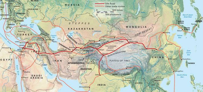 silk road solid red line maps pinterest silk road
