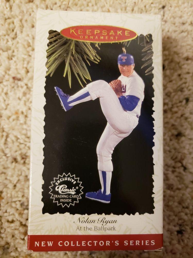 Nolan Ryan Texas Rangers MLB Baseball Christmas Tree Ornament White