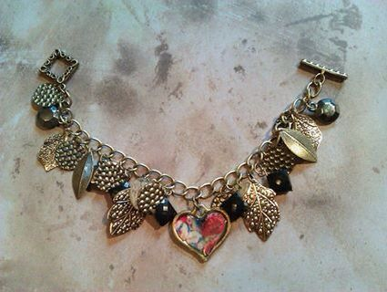 Heart charm bracelet by Tiffany Lane Garstang