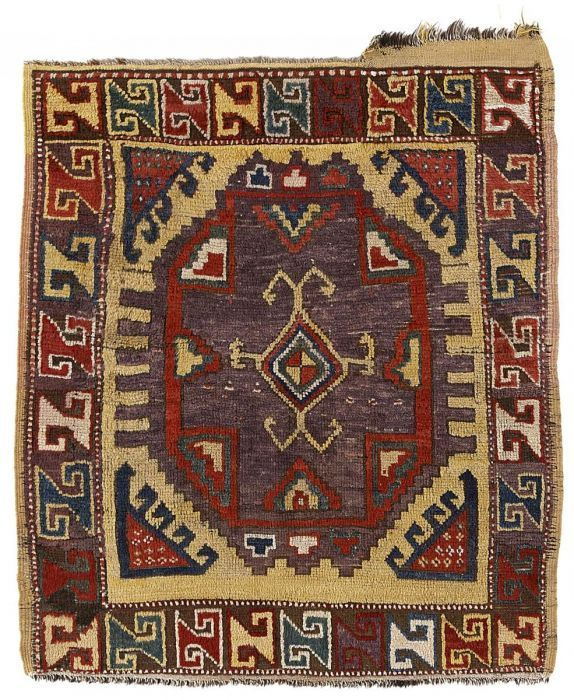 VAN-HAM Kunstauktionen Konya fragment.  Early 19th C. 115 x 101cm.