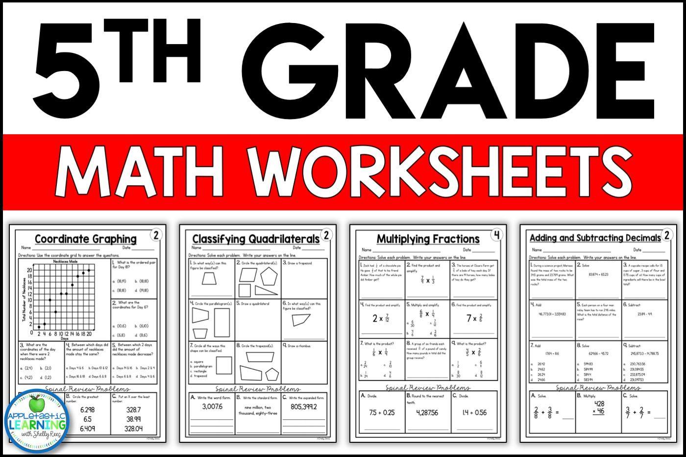 5th Grade Math Worksheets Free And Printable Appletastic Learning 5th Grade Math Fun Math Worksheets 5th Grade Worksheets