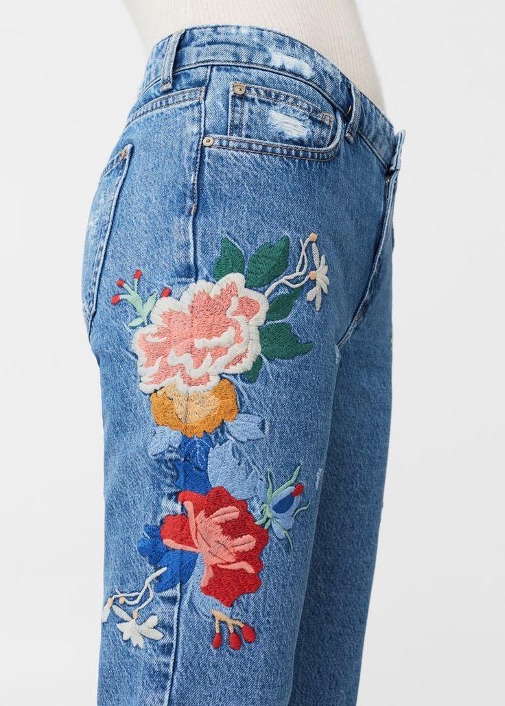 джинсовые картинки с цветами подробнее, чем сочетать