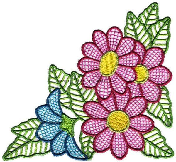 Beautiful flowers machine embroidery designs on behance