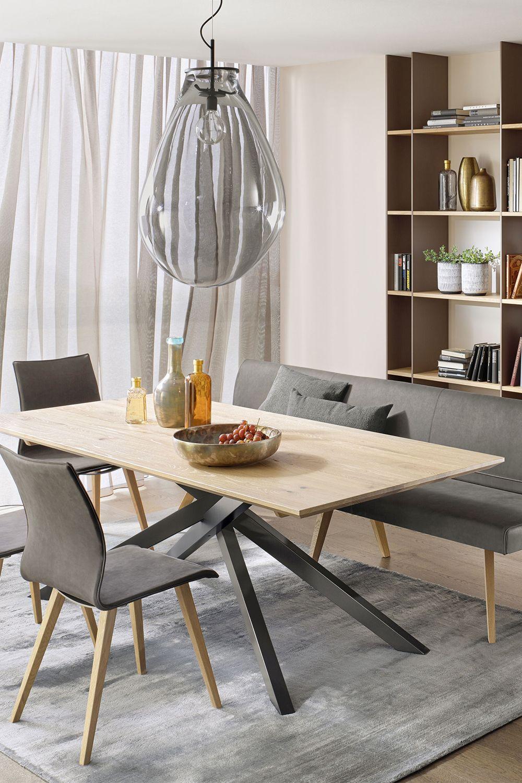 Anrei Esszimmer Metro Asteiche Geburstet Mobel Letz Ihr Online Shop Einrichtungstipps Tisch Esstisch Massiv