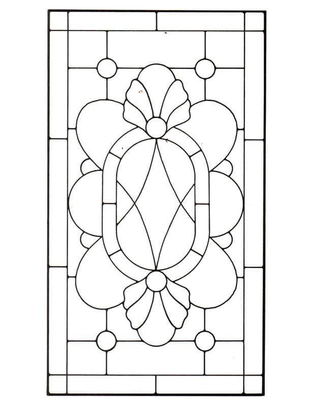 Victorian stained glass patterns: Torch and Ribbon | Sunlight ...