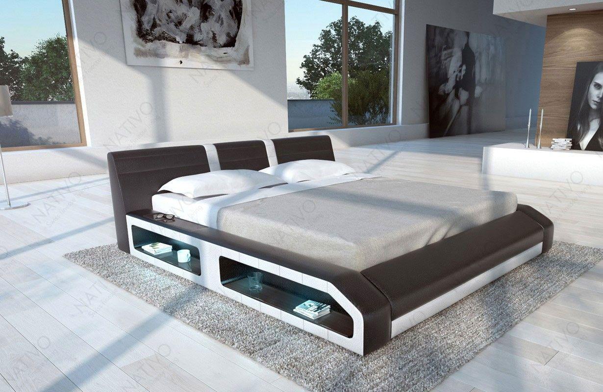 Designer Lederbett FLOYD mit LED Beleuchtung | Betten in ...