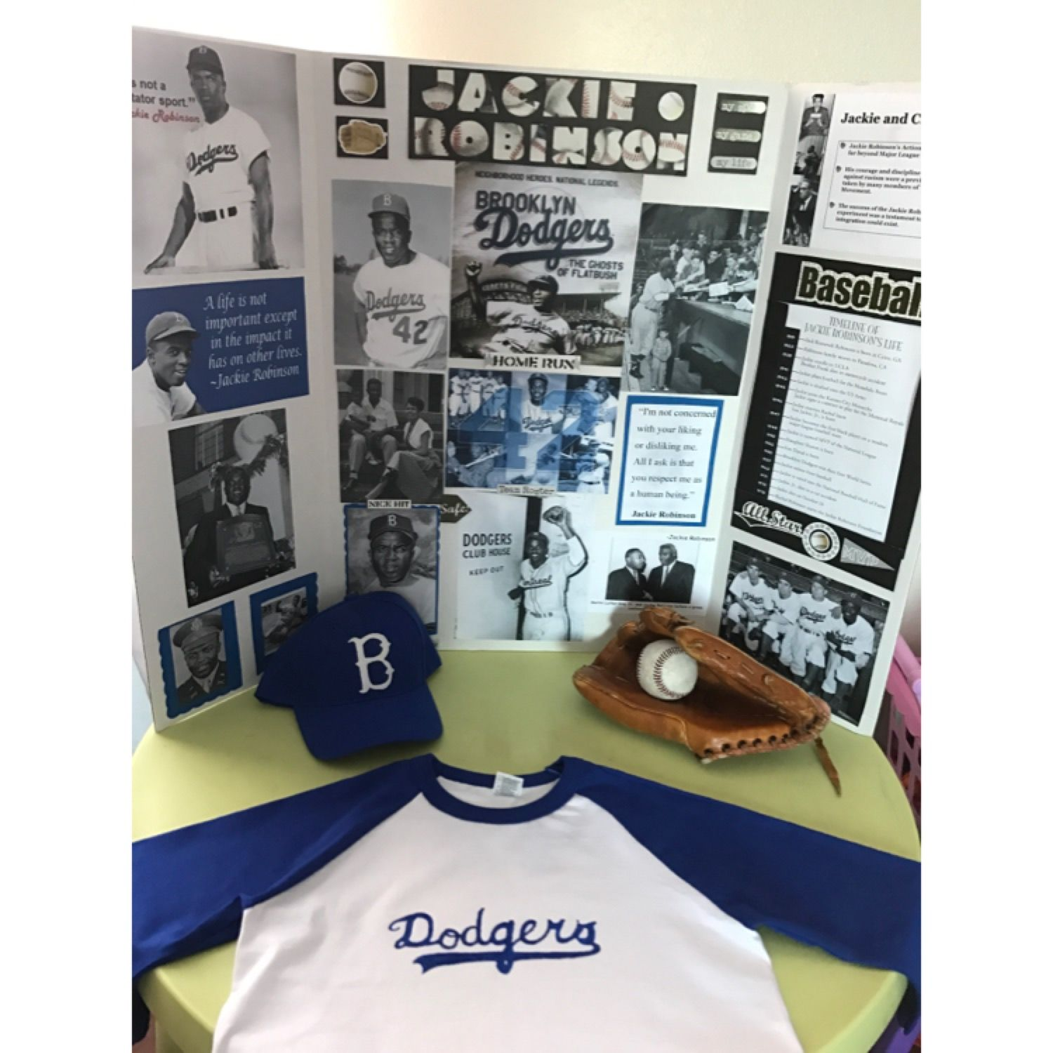 Jackie Robinson Project I Used Felt For The B On The Cap