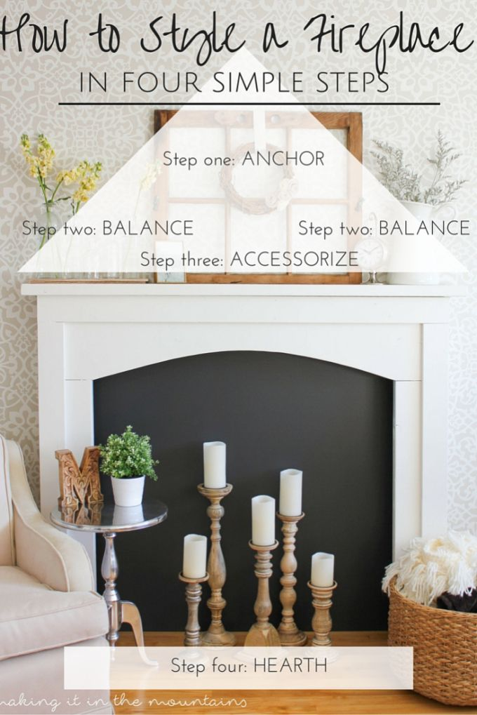 How to Style a Fireplace in Four Simple Steps | Learning, DIY ideas ...