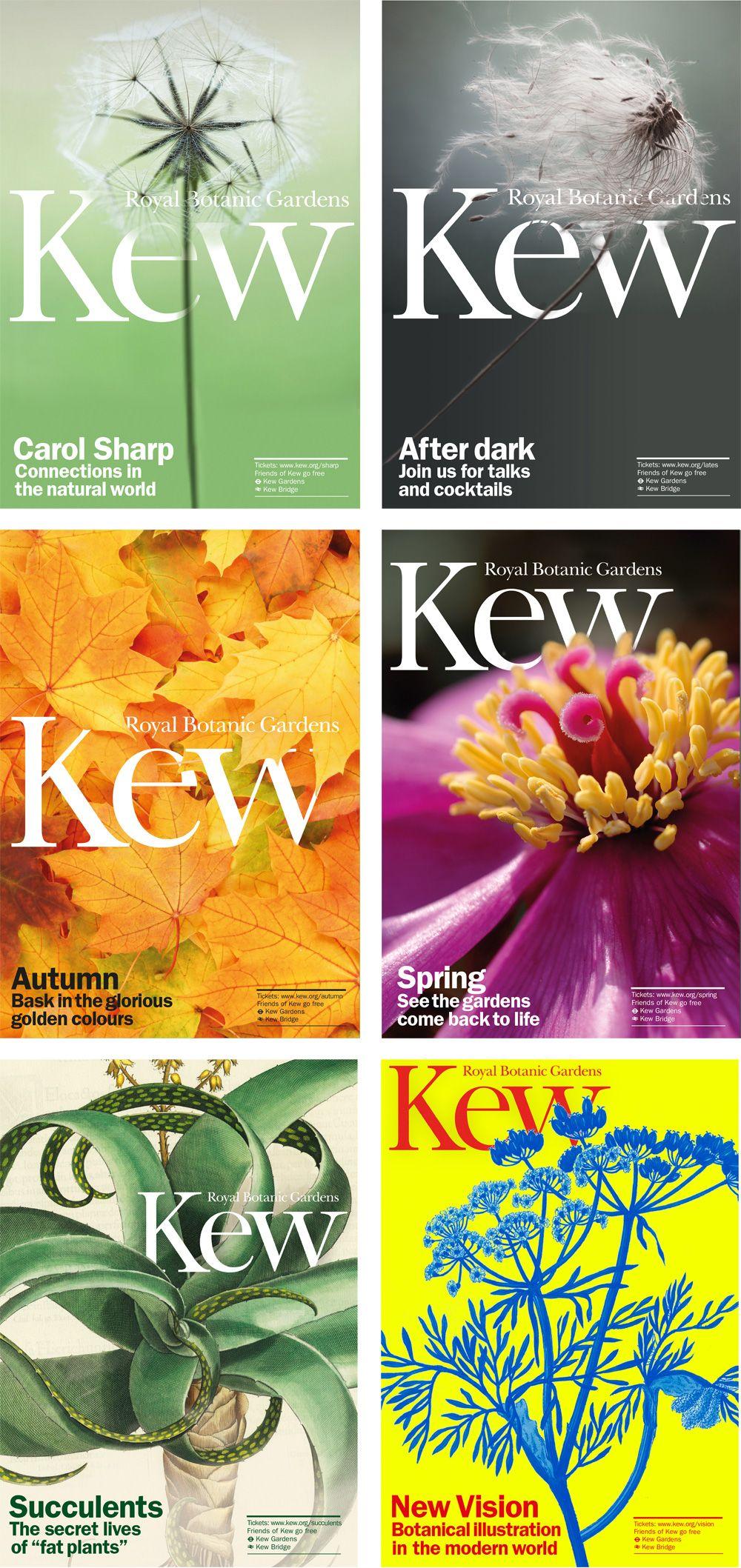Kew Garden S New Brand Identity By Pentagram Love The Interaction