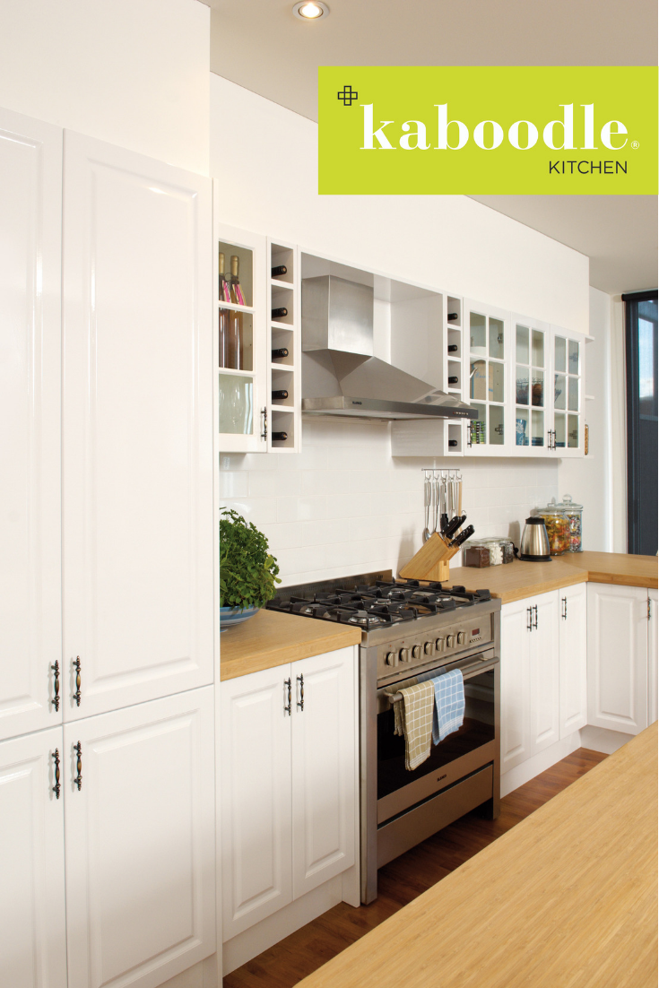 a tradition worth keeping our gloss white doors with a heritage profile add serious character to on kaboodle kitchen white pepper id=87742