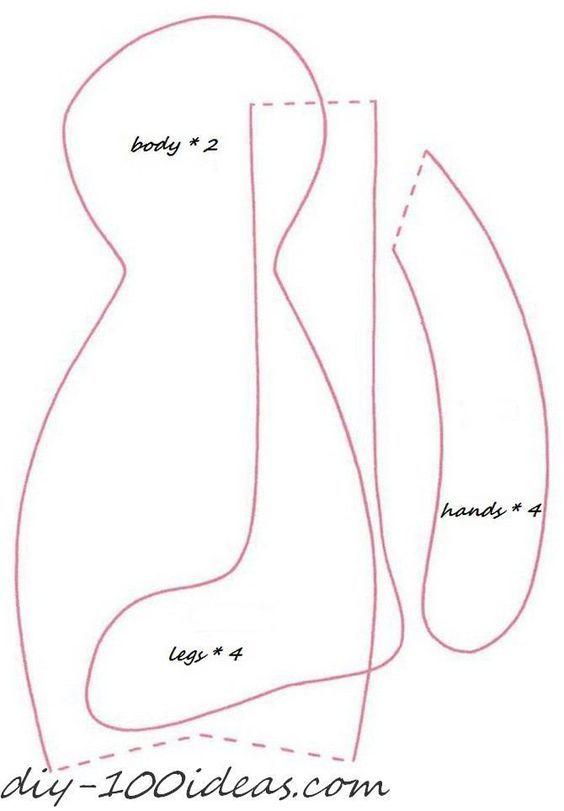free sewing pattern tilda bunny (2): | sewing | Pinterest