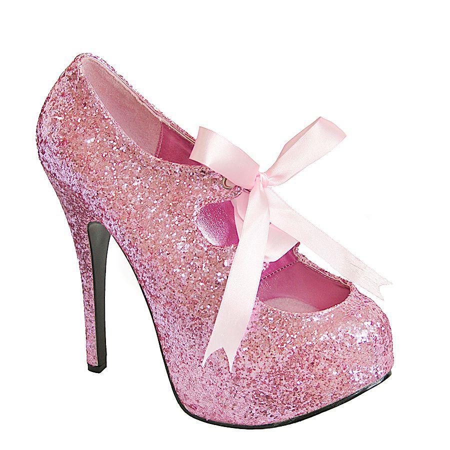 Pink Glitter Pinup Rockabilly Pleaser