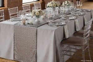 Neutral State Of Mind: How To Use Silver And Tan Table Linen
