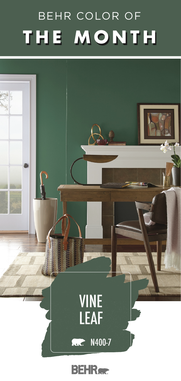 Color Of The Month Vine Leaf With