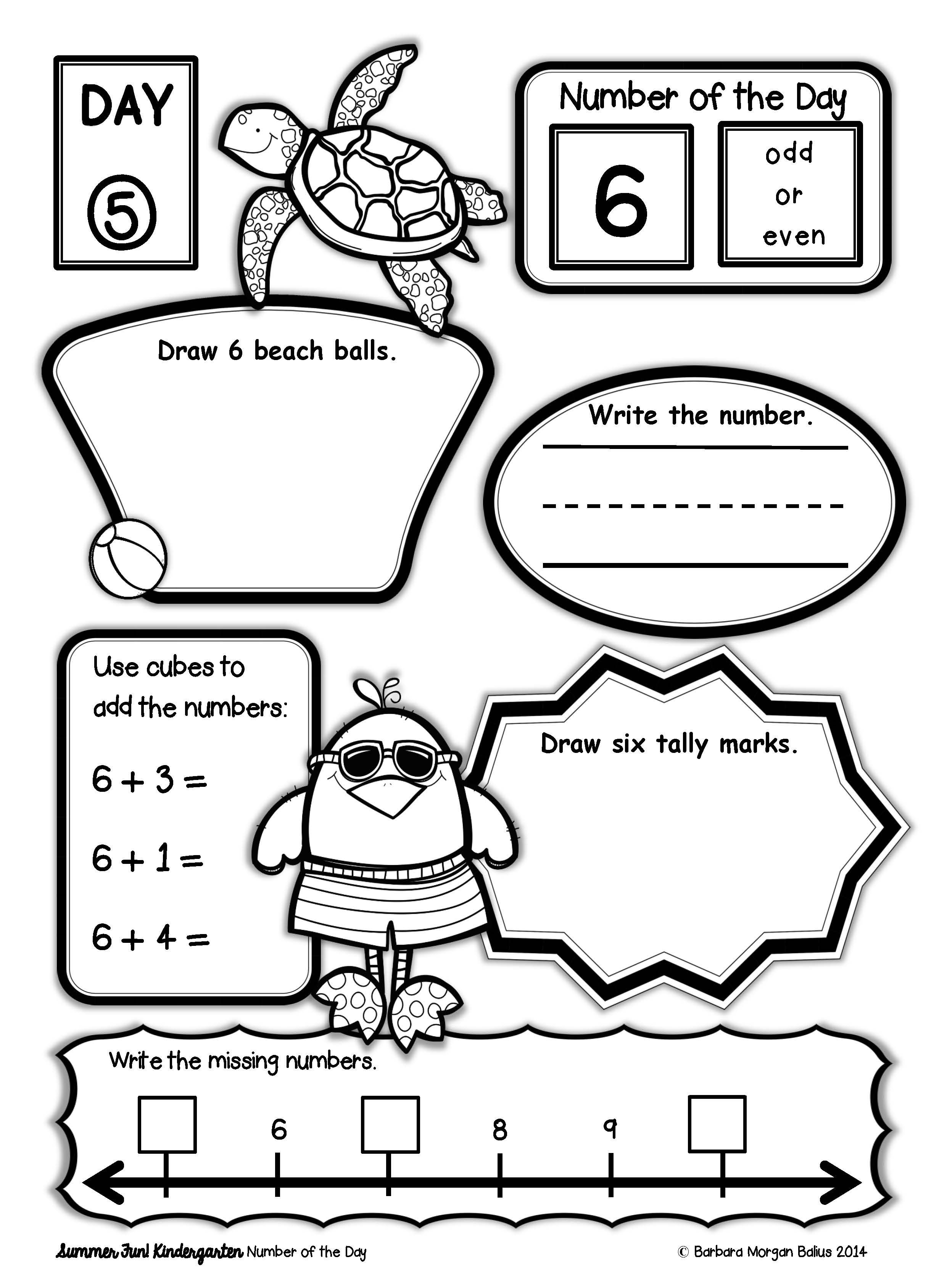 End Of Year Kindergarten Math Practice