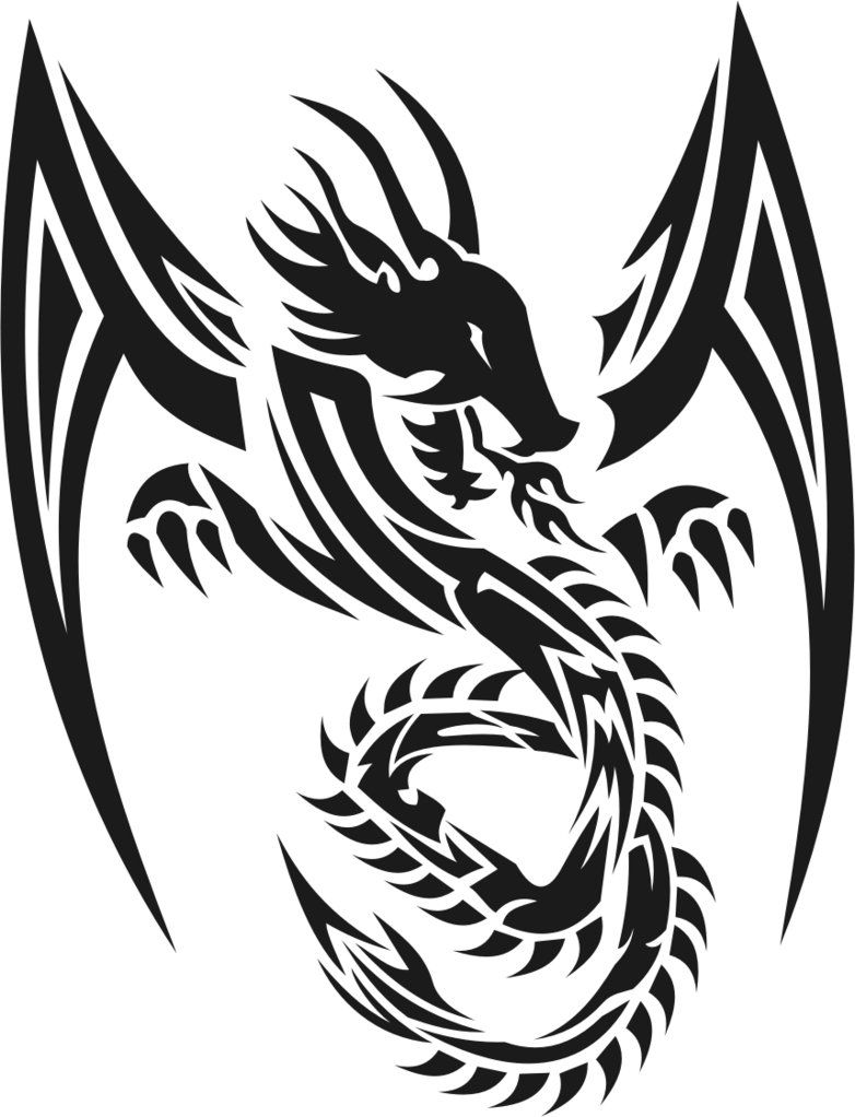 37 Tribal Dragons For Sticker Design Inspiration Dragon Tattoos