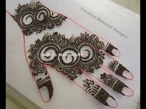 3f79a988f Beautiful Flowery Henna Mehndi Design Patch Tattoo Tutorial - YouTube