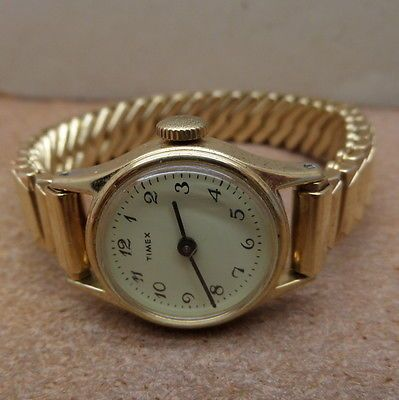 Vintage-Timex-Winder-Watch-Ladies-3-4-inch-Stretch-Band-Hong-Kong-Philippines