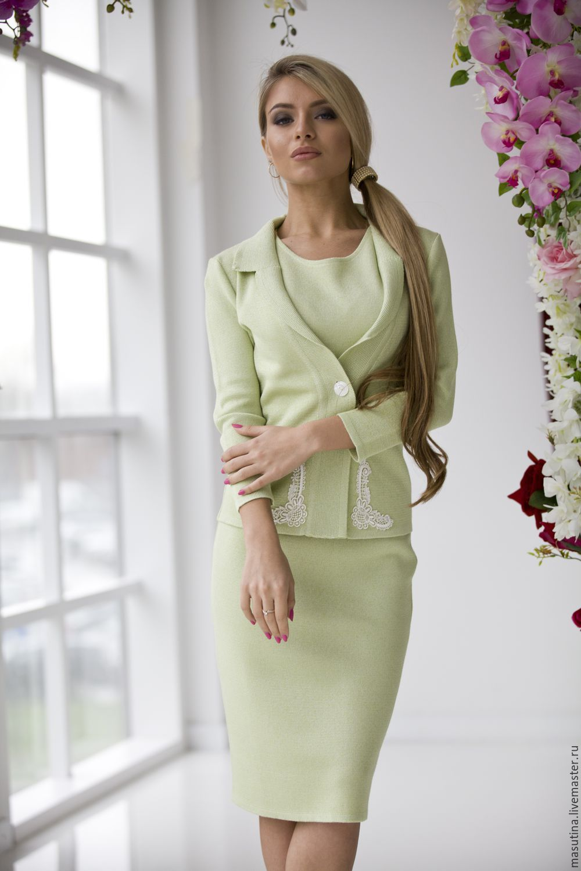 Костюм женский платье с жакетом