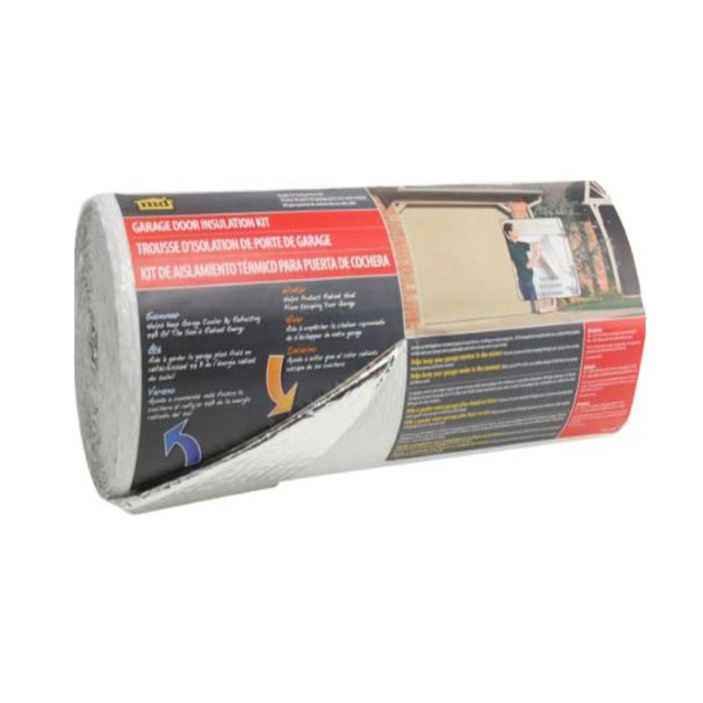 M D Building Products 22 In X 40 Ft Silver White Garage Door Insulation Kit Garage Door Insulation Kit Door Insulation Garage Door Insulation