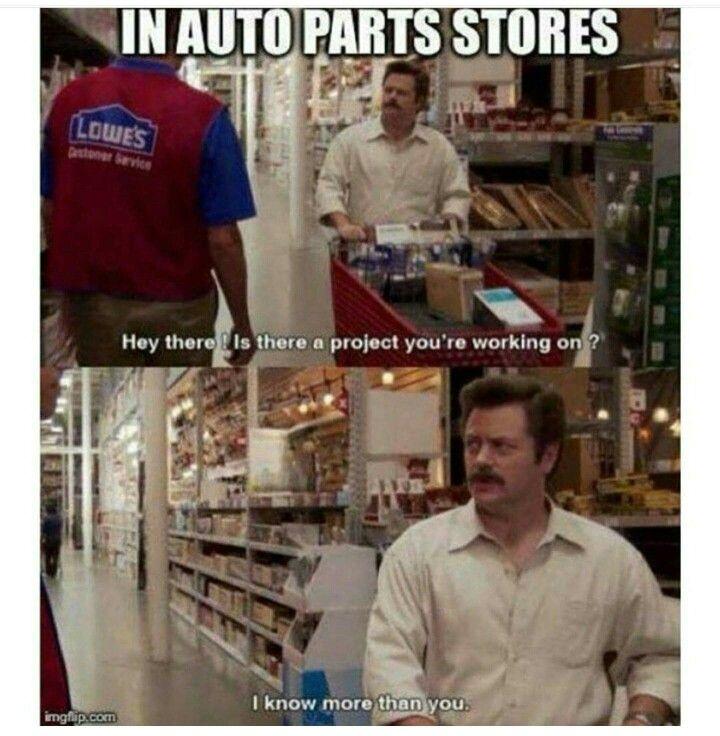 2b469c149121b0fef3511d8fd9d29637 parts store meme memes pinterest meme, memes and humor
