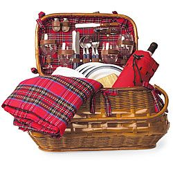 @Overstock - Highlander picnic basket has Old World charm and sophistication like no other Brown rattan and bamboo outdoor serving basket lined with quilted, red tartan cotton Deluxe serveware for four with all the amenitieshttp://www.overstock.com/Home-Garden/Picnic-Time-Highlander-Deluxe-Picnic-Basket/4229898/product.html?CID=214117 Add to cart to see special price