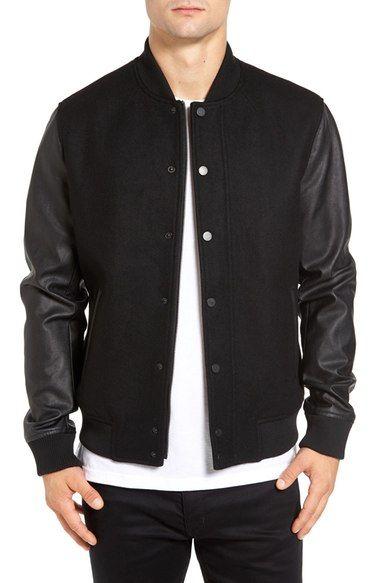 Details about New 2018 Mens Adidas Originals Essentials Track Varsity Bomber Leather Jacket