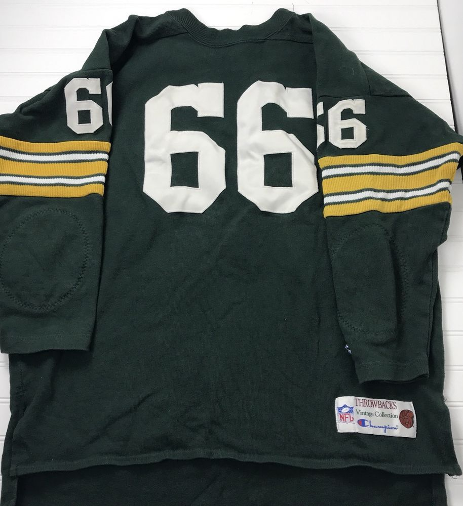 lowest price fd09b 8a6bc NFL Throwback Size XL Vintage Green Bay Packers Ray Nitschke ...