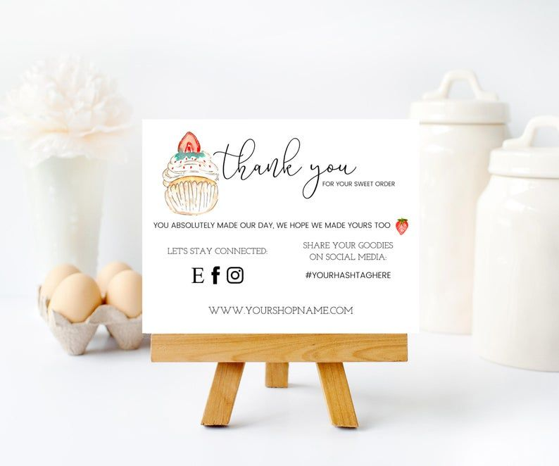Bakery Business Cards Editable Template Baker Business Cards Cookie Printable Shop Cake Business Cards Thank You For Your Order Bakery Bakery Business Cards Cake Business Cards Bakery Business
