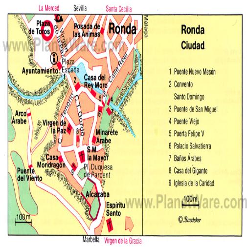 Ronda Spain City Map Itineraries Ronda Spain City Maps Spain