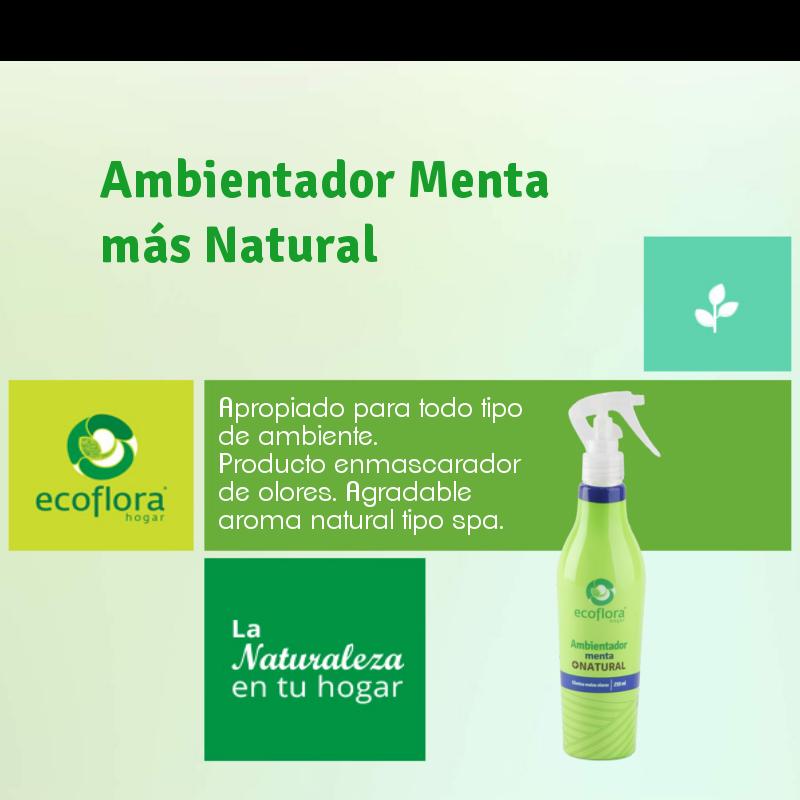 #SabíasQue nuestro Ambientador Menta más Natural de Ecoflora, está hecho de emulsificante, aceites esenciales y agua, lo cual no perjudicará tu salud y el ambiente. Conócelo aquí http://bit.ly/1msf1Fp