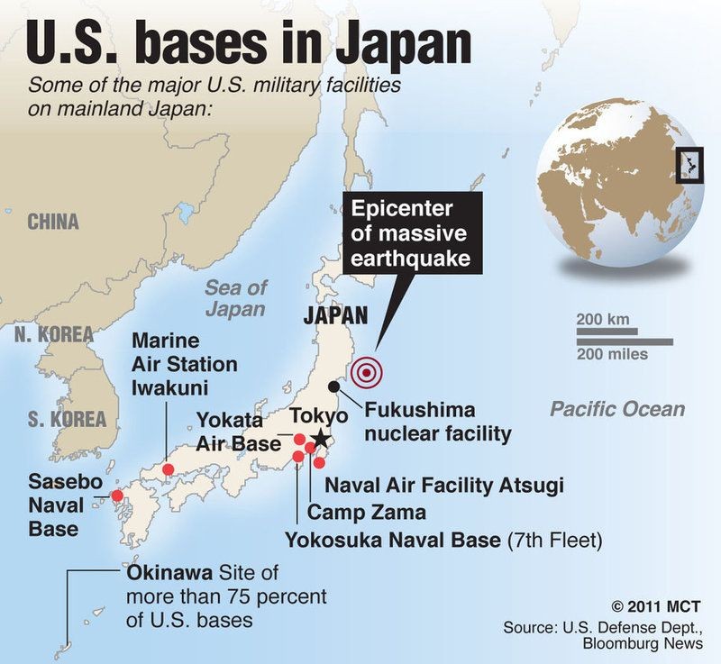 The San Francisco System Past Present Future In USJapan - Us military bases in okinawa map
