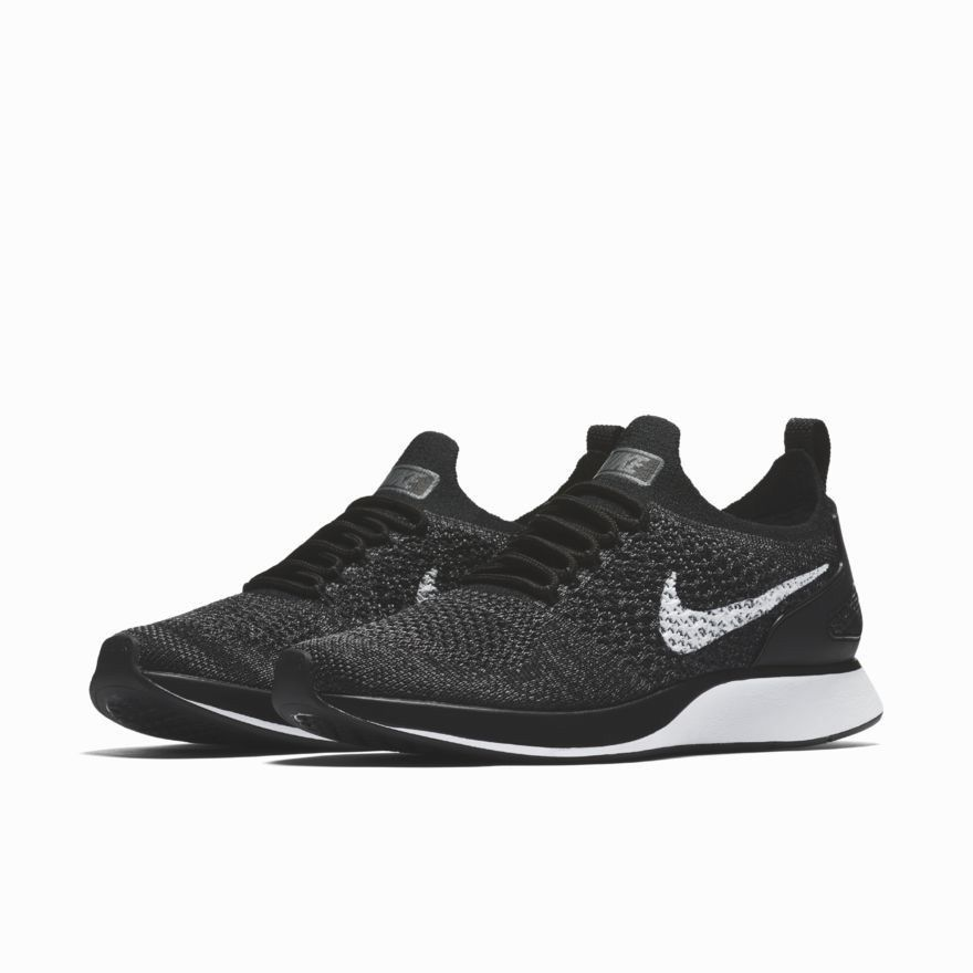 ade38181598d9 Nike Air Zoom Mariah Flyknit Racer Womens Running Shoes Black White Dark  Grey  Nike  RunningShoes