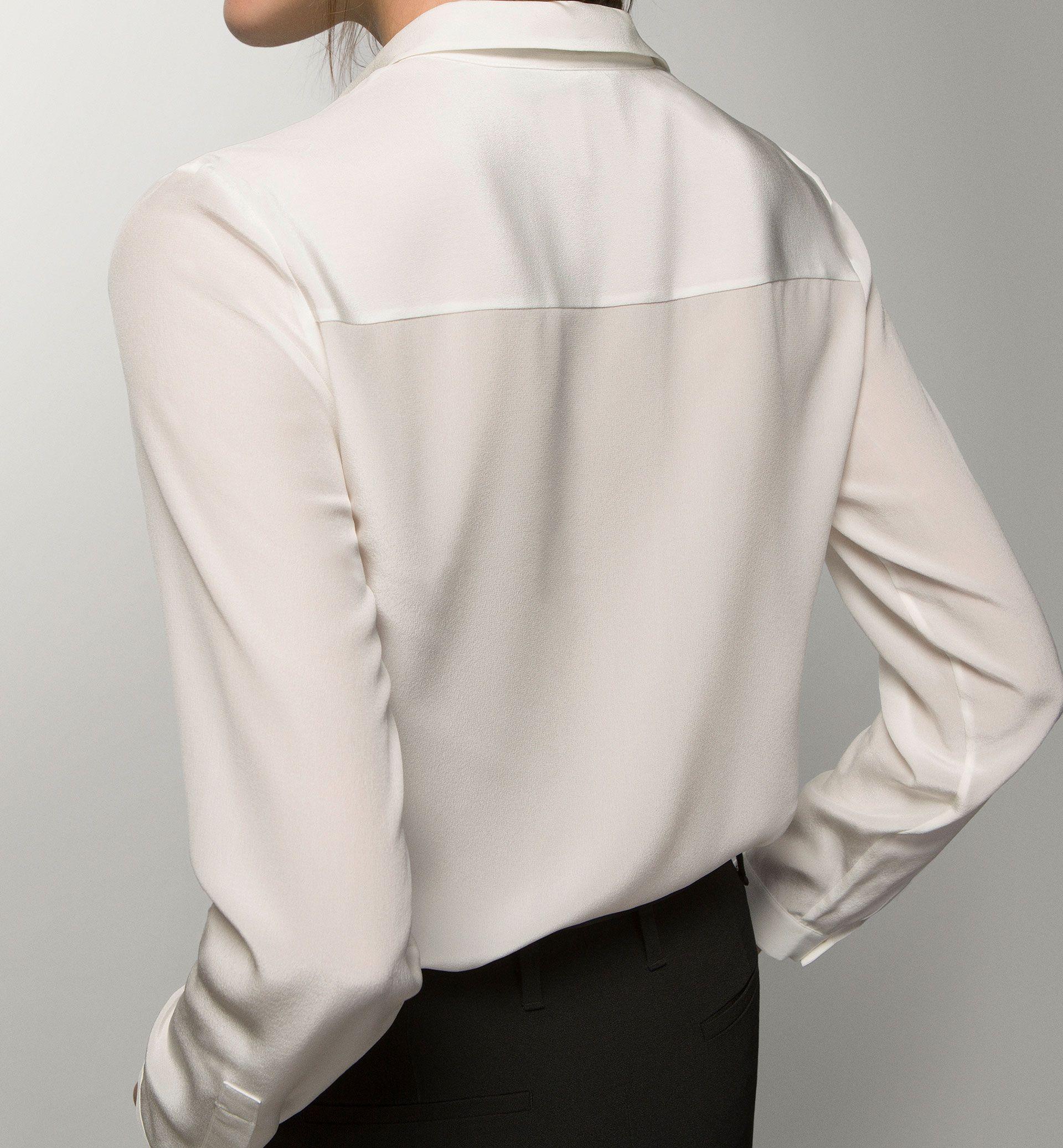 CAMISA BLANCA 100% SEDA   Blusas mujer, Ropa, Camisa blanca