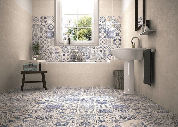 Skyros White Pattern Wall And Floor Tiles Part 60