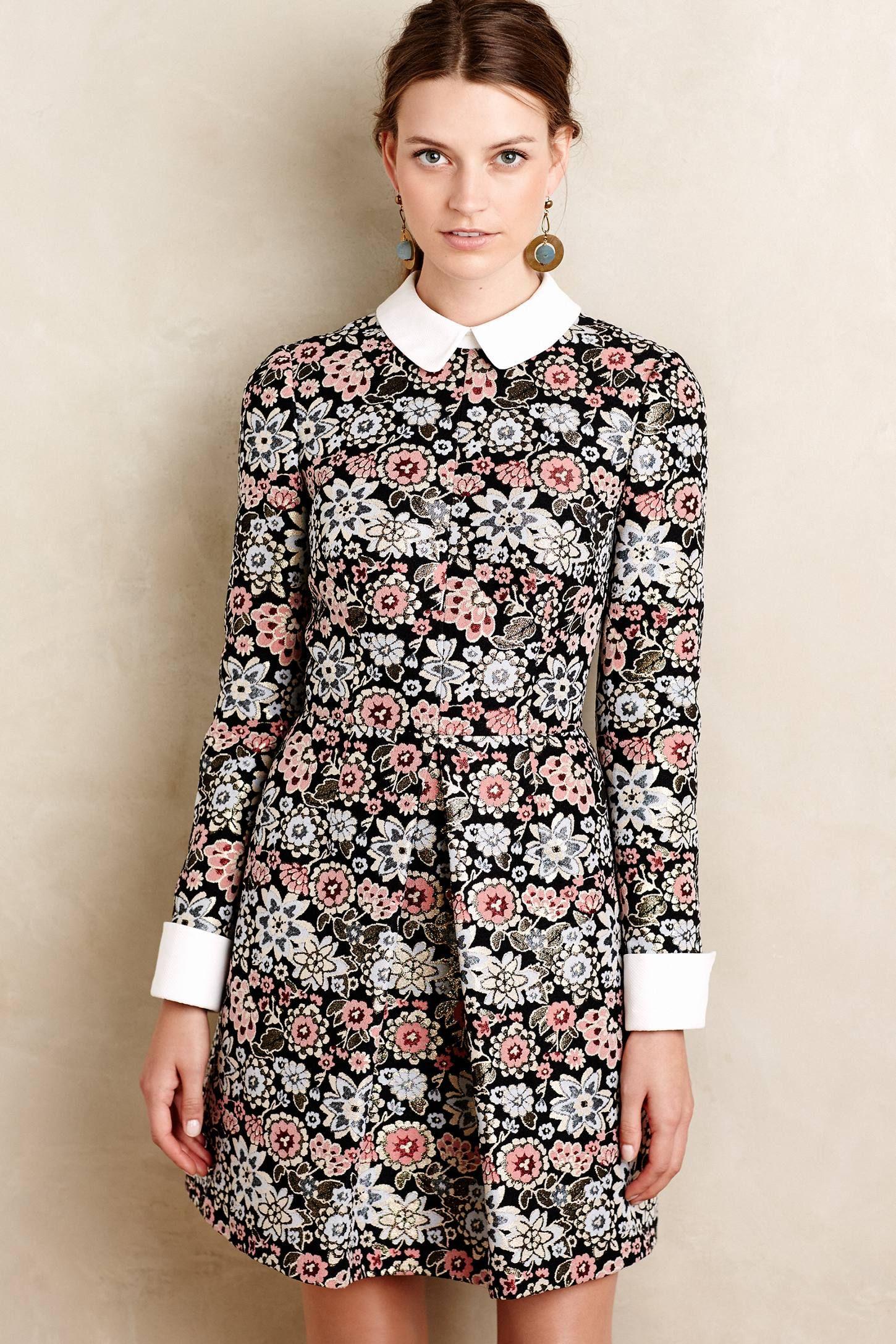 f279a1164f5 at anthropologie Brocade Blossom Mini Dress