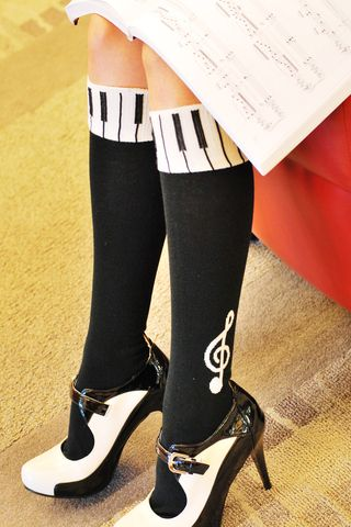 c3bdc0dda ... l Made in Japan. I love these music knee socks by Tabbie. Getting them!  SB.