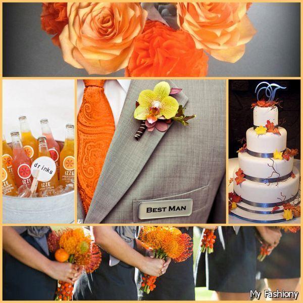 Fall Wedding Ideas In Orange Scheme 2015 2016