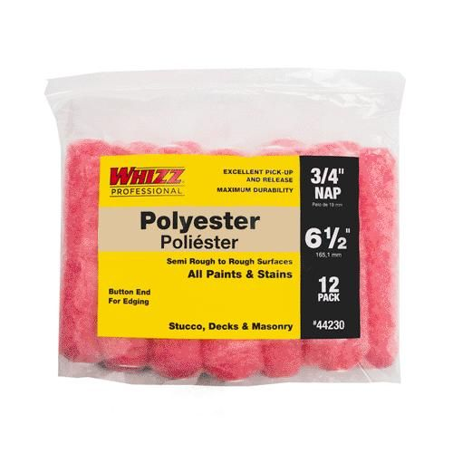Whizz 44230 Polyester Mini Rollers Pink 6 5 X 3 4 Paint Rollers With Designs Mini Pink