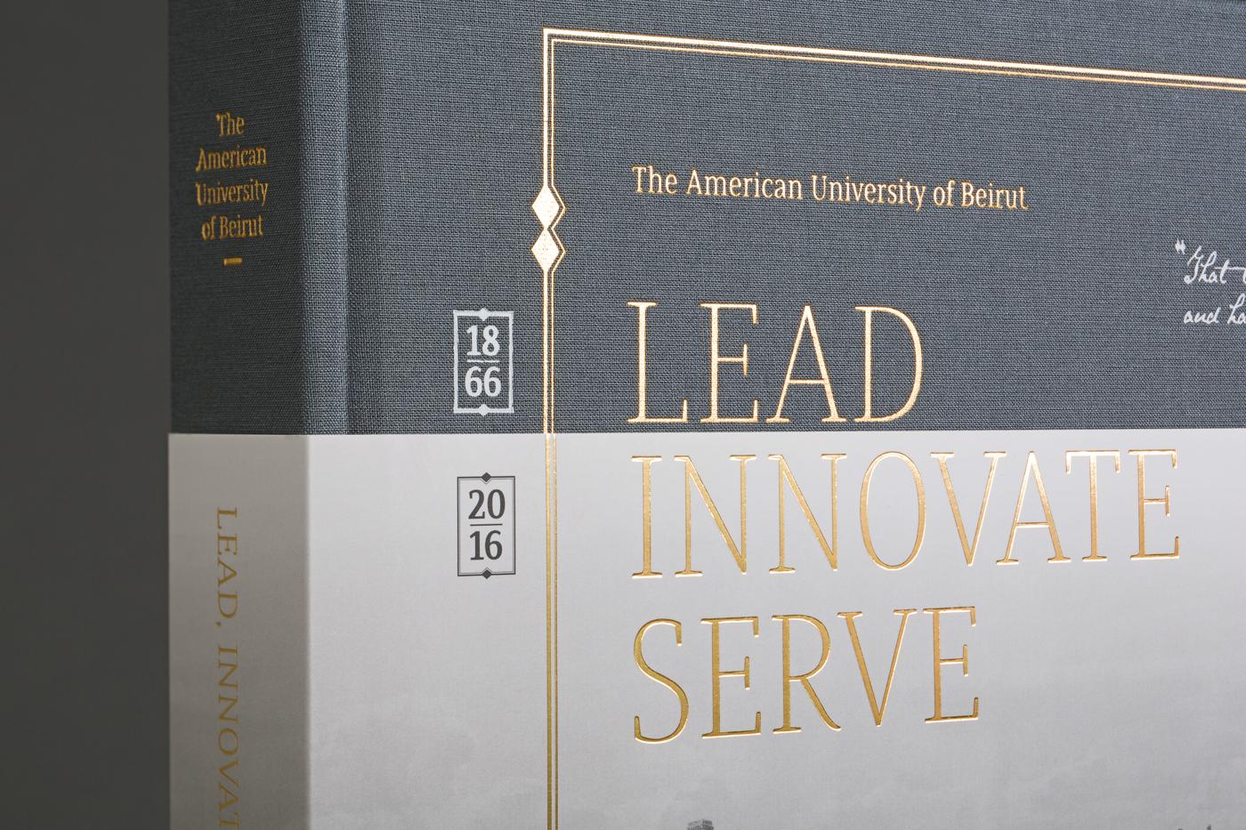 다음 @Behance 프로젝트 확인: \u201cAUB 150 Visual History Book: Lead Innovate Serve\u201d https://www.behance.net/gallery/48818663/AUB-150-Visual-History-Book-Lead-Innovate-Serve