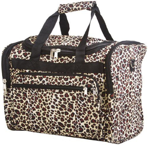 192343289f3c 16 Leopard Print Duffle Dance Gym Bag Travel Luggage Carry on Black Brown   17.93 (save  25.06) NEED ONE